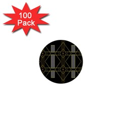 Simple Art Deco Style  1  Mini Buttons (100 Pack)  by Simbadda