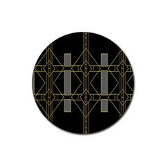 Simple Art Deco Style  Rubber Coaster (round)  by Simbadda