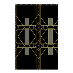 Simple Art Deco Style  Shower Curtain 48  X 72  (small)  by Simbadda