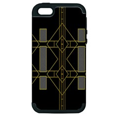 Simple Art Deco Style  Apple Iphone 5 Hardshell Case (pc+silicone)