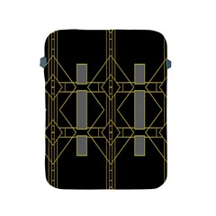 Simple Art Deco Style  Apple Ipad 2/3/4 Protective Soft Cases by Simbadda