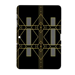 Simple Art Deco Style  Samsung Galaxy Tab 2 (10 1 ) P5100 Hardshell Case  by Simbadda