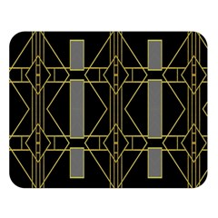 Simple Art Deco Style  Double Sided Flano Blanket (large)  by Simbadda
