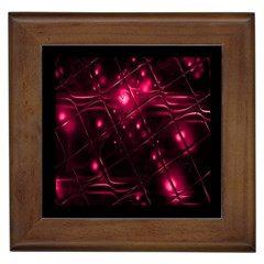 Picture Of Love In Magenta Declaration Of Love Framed Tiles by Simbadda