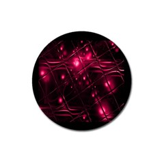 Picture Of Love In Magenta Declaration Of Love Magnet 3  (round)