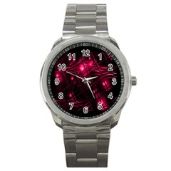 Picture Of Love In Magenta Declaration Of Love Sport Metal Watch by Simbadda