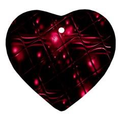 Picture Of Love In Magenta Declaration Of Love Heart Ornament (two Sides)
