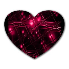 Picture Of Love In Magenta Declaration Of Love Heart Mousepads by Simbadda