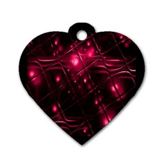 Picture Of Love In Magenta Declaration Of Love Dog Tag Heart (one Side)