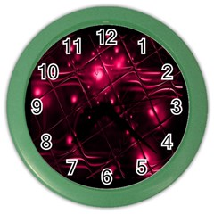 Picture Of Love In Magenta Declaration Of Love Color Wall Clocks by Simbadda