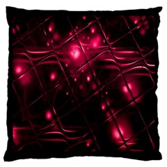 Picture Of Love In Magenta Declaration Of Love Large Cushion Case (two Sides) by Simbadda