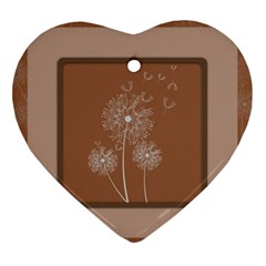 Dandelion Frame Card Template For Scrapbooking Ornament (heart)