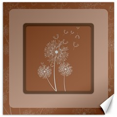 Dandelion Frame Card Template For Scrapbooking Canvas 16  X 16   by Simbadda