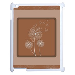 Dandelion Frame Card Template For Scrapbooking Apple Ipad 2 Case (white)
