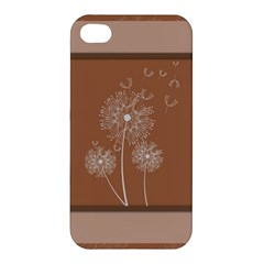 Dandelion Frame Card Template For Scrapbooking Apple Iphone 4/4s Hardshell Case by Simbadda