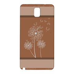 Dandelion Frame Card Template For Scrapbooking Samsung Galaxy Note 3 N9005 Hardshell Back Case by Simbadda