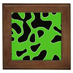 Black Green Abstract Shapes A Completely Seamless Tile Able Background Framed Tiles by Simbadda