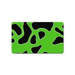 Black Green Abstract Shapes A Completely Seamless Tile Able Background Magnet (name Card) by Simbadda