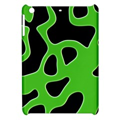 Black Green Abstract Shapes A Completely Seamless Tile Able Background Apple Ipad Mini Hardshell Case by Simbadda
