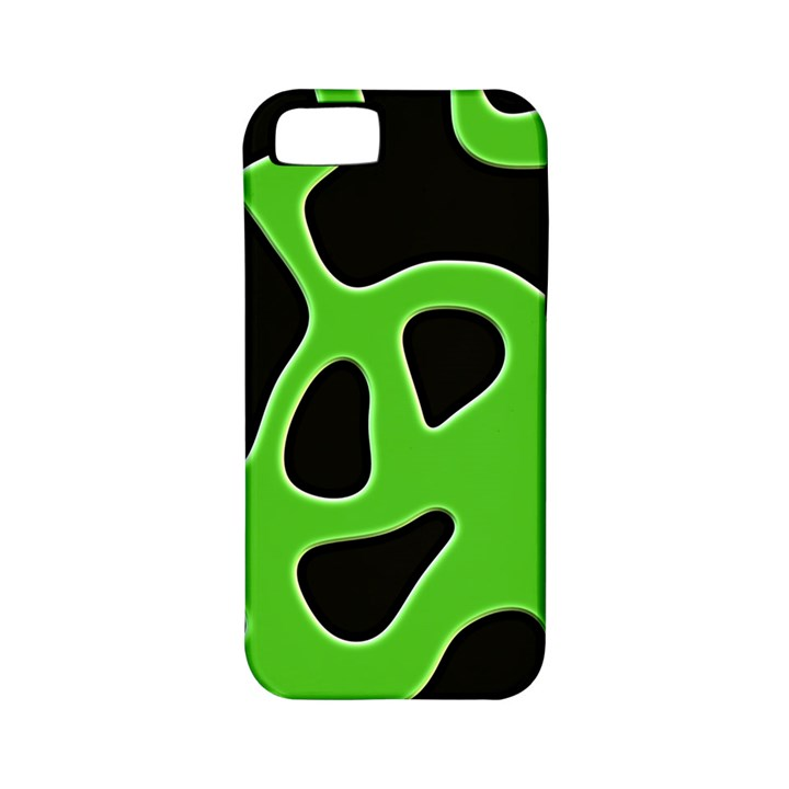 Black Green Abstract Shapes A Completely Seamless Tile Able Background Apple iPhone 5 Classic Hardshell Case (PC+Silicone)