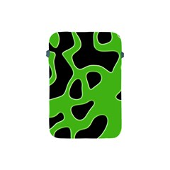 Black Green Abstract Shapes A Completely Seamless Tile Able Background Apple Ipad Mini Protective Soft Cases by Simbadda