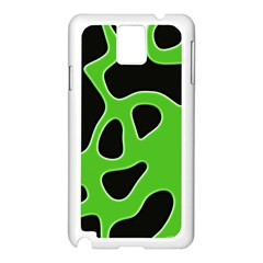 Black Green Abstract Shapes A Completely Seamless Tile Able Background Samsung Galaxy Note 3 N9005 Case (white) by Simbadda
