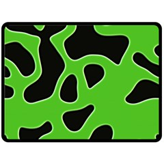 Black Green Abstract Shapes A Completely Seamless Tile Able Background Double Sided Fleece Blanket (large)  by Simbadda