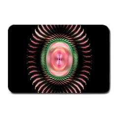 Fractal Plate Like Image In Pink Green And Other Colours Plate Mats