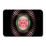 Fractal Plate Like Image In Pink Green And Other Colours Plate Mats 18 x12 Plate Mat - 1