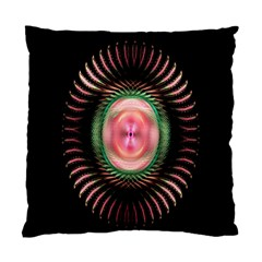 Fractal Plate Like Image In Pink Green And Other Colours Standard Cushion Case (one Side) by Simbadda