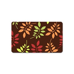 Leaves Wallpaper Pattern Seamless Autumn Colors Leaf Background Magnet (name Card) by Simbadda
