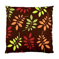 Leaves Wallpaper Pattern Seamless Autumn Colors Leaf Background Standard Cushion Case (two Sides) by Simbadda