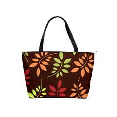 Leaves Wallpaper Pattern Seamless Autumn Colors Leaf Background Shoulder Handbags by Simbadda