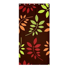 Leaves Wallpaper Pattern Seamless Autumn Colors Leaf Background Shower Curtain 36  X 72  (stall)