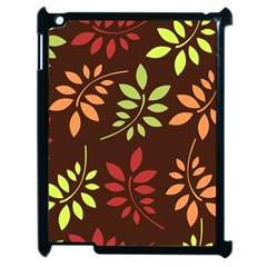 Leaves Wallpaper Pattern Seamless Autumn Colors Leaf Background Apple Ipad 2 Case (black) by Simbadda