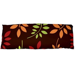 Leaves Wallpaper Pattern Seamless Autumn Colors Leaf Background Body Pillow Case Dakimakura (two Sides) by Simbadda