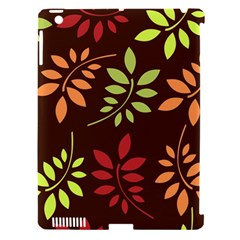 Leaves Wallpaper Pattern Seamless Autumn Colors Leaf Background Apple Ipad 3/4 Hardshell Case (compatible With Smart Cover) by Simbadda