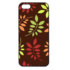 Leaves Wallpaper Pattern Seamless Autumn Colors Leaf Background Apple Iphone 5 Seamless Case (black) by Simbadda
