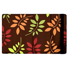 Leaves Wallpaper Pattern Seamless Autumn Colors Leaf Background Apple Ipad 3/4 Flip Case by Simbadda