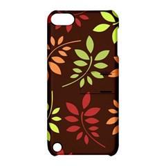 Leaves Wallpaper Pattern Seamless Autumn Colors Leaf Background Apple Ipod Touch 5 Hardshell Case With Stand by Simbadda