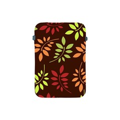 Leaves Wallpaper Pattern Seamless Autumn Colors Leaf Background Apple Ipad Mini Protective Soft Cases by Simbadda