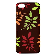 Leaves Wallpaper Pattern Seamless Autumn Colors Leaf Background Iphone 5s/ Se Premium Hardshell Case by Simbadda