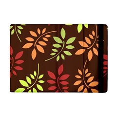 Leaves Wallpaper Pattern Seamless Autumn Colors Leaf Background Ipad Mini 2 Flip Cases by Simbadda