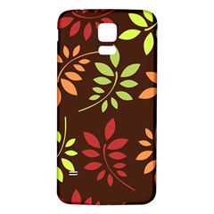 Leaves Wallpaper Pattern Seamless Autumn Colors Leaf Background Samsung Galaxy S5 Back Case (white) by Simbadda