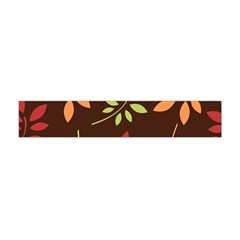Leaves Wallpaper Pattern Seamless Autumn Colors Leaf Background Flano Scarf (mini) by Simbadda