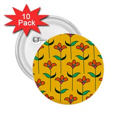 Small Flowers Pattern Floral Seamless Vector 2 25  Buttons (10 Pack)