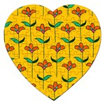 Small Flowers Pattern Floral Seamless Vector Jigsaw Puzzle (Heart) Front