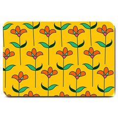 Small Flowers Pattern Floral Seamless Vector Large Doormat  by Simbadda
