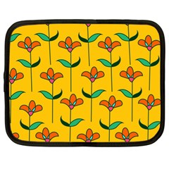 Small Flowers Pattern Floral Seamless Vector Netbook Case (xl)