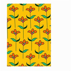 Small Flowers Pattern Floral Seamless Vector Large Garden Flag (two Sides) by Simbadda